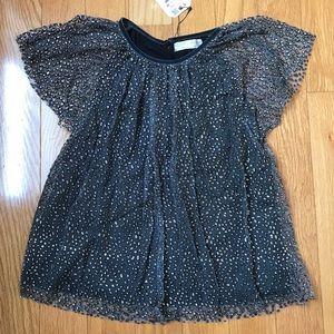 NWT Zara Size 11/12 Girls fancy Sparkle Top